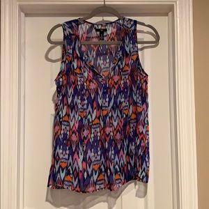 Colorful sheer dress top